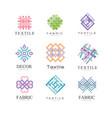 flat set original logos for fabric or vector image