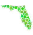 florida map collage of dots vector image