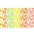 fresh citrus seamless pattern set summer slices vector image