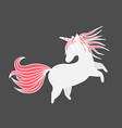 funny unicorn valentine s day design element vector image vector image