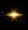 gold light effect shining star bokeh effect vector image