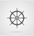 gray steering wheel flat icon vector image vector image