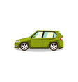 green car hatchback side view transport for vector image vector image