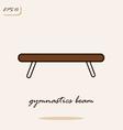 gymnastics beam vector image