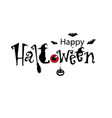 happy halloween text banner black text decorated vector image vector image