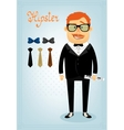 Hipster character pack for business man vector image vector image