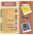 Indonesia infographics statistical data sights vector image
