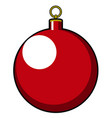 isolated christmas tree ball vector image