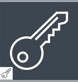 key thin line icon vector image