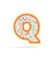 letter q with group of dots logo icon sign vector image vector image