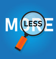 minimalism less is more paradox concept avoid vector image