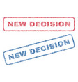 new decision textile stamps vector image vector image