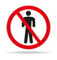 no man sign on white background vector image