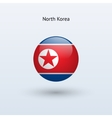 North Korea round flag vector image vector image