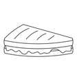 pie icon outline style vector image vector image