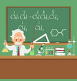 professor or scientist teaching in college or vector image vector image