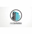 real estates logo estates renting icon renting vector image vector image