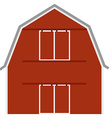 Red barn vector image vector image