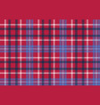 red tartan plaid seamless fabric texture vector image