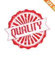 Rubber stamp with quality word - - EPS10 vector image vector image