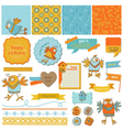 Scrapbook Design Elements - Cute Birds vector image vector image