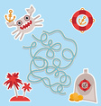 sea animals boats pirates cute sea objects vector image