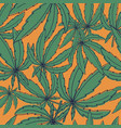 seamless pattern with marijuana leaves on vector image vector image