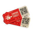 set cinema tickets vector image vector image