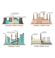Set of industrial flat of vector image vector image
