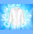 shine white shirt surrounded soap bubbles vector image vector image