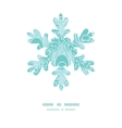 soft peacock feathers Christmas snowflake vector image