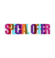 special offer sale banner paper style or flat vector image vector image
