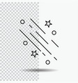 star shooting star falling space stars line icon vector image