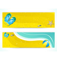summer beach and flip flop banners vector image
