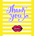 thank you bright card in retro 80s 90s style vector image vector image