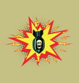 the atomic bomb and skeleton vector image