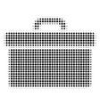 toolbox halftone icon vector image