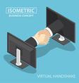 Virtual handshake vector image vector image