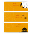 website headers banners with happy halloween vector image