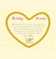 wedding invitation or card with ribbon form of a vector image