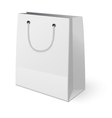 White shopping paper bag isolated on white