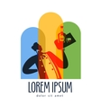 wine logo design template sommelier or vector image