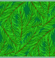 winter fir green branches seamless pattern vector image vector image