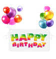 Happy Birthday Colorful Greetings Card vector image