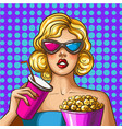 pop art of beautiful lady in vector image