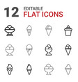 12 waffle icons vector image vector image