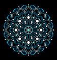 aboriginal dot painting mandala australian design vector image vector image