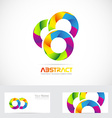 Abstract circles colors logo vector image vector image