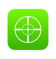 aim icon digital green vector image vector image