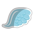 angel wing isolated icon vector image